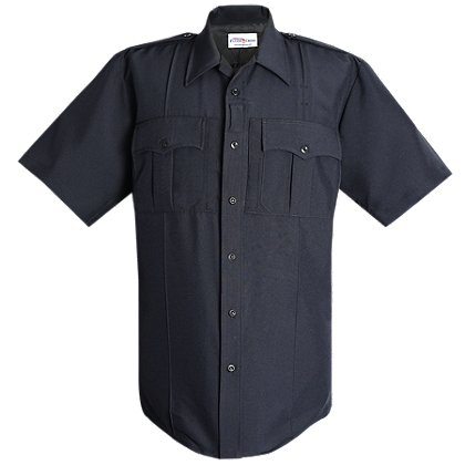 Flying Cross Justice Men's Short-Sleeve Shirt, LAPD Navy, 75% Polyester/25% Wool