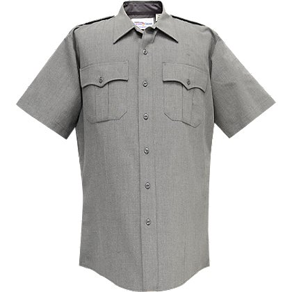 Flying Cross Deluxe Tactical Men's Short-Sleeve Shirt, Heather Gray