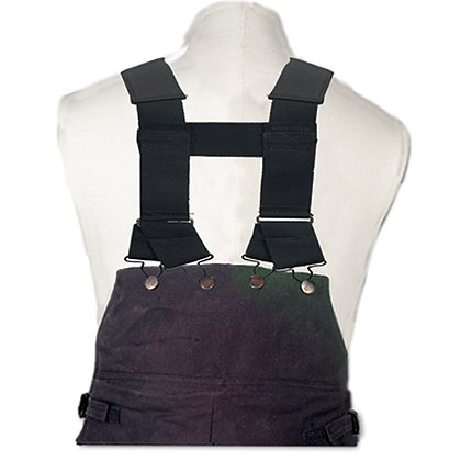 Fire-Dex Black Padded H-Back Suspenders