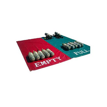 Husky SCBA Full/Empty, Red/Green Staging Mats