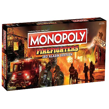 MONOPOLY: Firefighters Monopoly 3rd Edition, 6 Pack