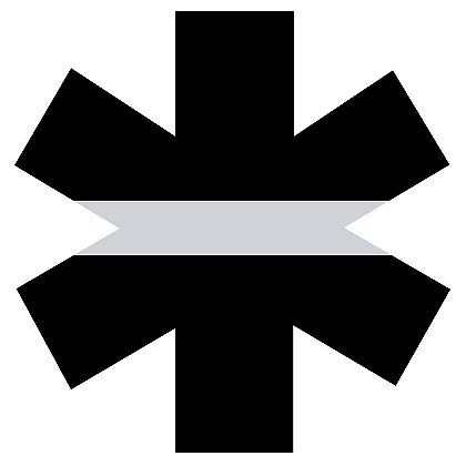 Exclusive Thin White Line Star of Life Decal