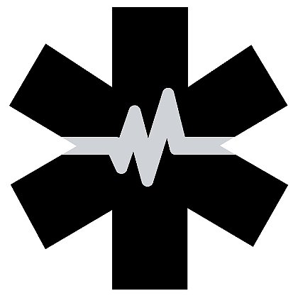 Exclusive Thin White Line Star of Life with Heartbeat Decal