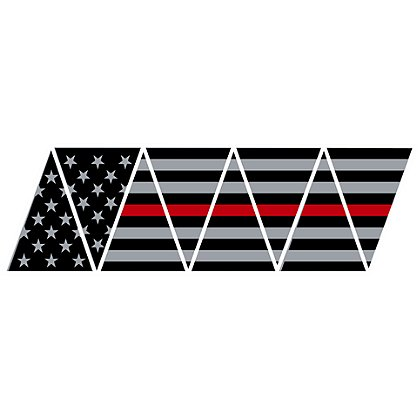 Exclusive Thin Red Line American Flag Tetrahedrons