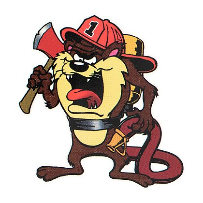 Firehouse Decals Tasmanian Devil with Airpack Decal