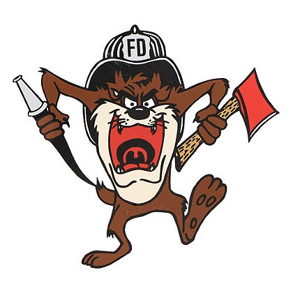 Firehouse Decals Tasmanian Devil Running Decal