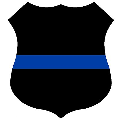 Exclusive Thin Blue Line Shield Decal