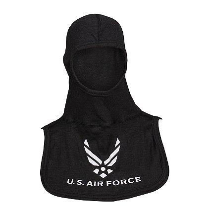 Majestic PACII Nomex Blend Blackout Air Force Logo Hood, Black