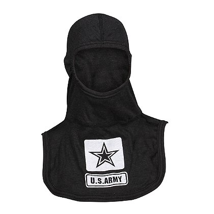 Majestic PACII Nomex Blend Blackout Army Logo Hood, Black