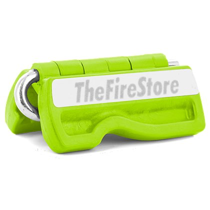 Fat Ivan Block It and Lock It Door Chock with Magnets, Green w/ GLO Firestore Logo