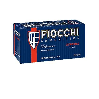 Fiocchi .22 WIN-MAG 40GR JHP Ammunition, Case of 2000