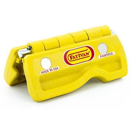 Fat Ivan Block It and Lock It Lightweight Door Chock with Magnets, Yellow