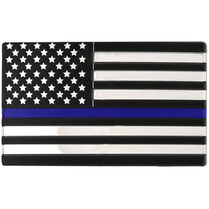 Blackinton 3D Flex Metallic Thin Blue Line Flag with Hook and Loop