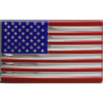 Blackinton 3D American Flex Flag with Chrome Finish, Hook and Loop