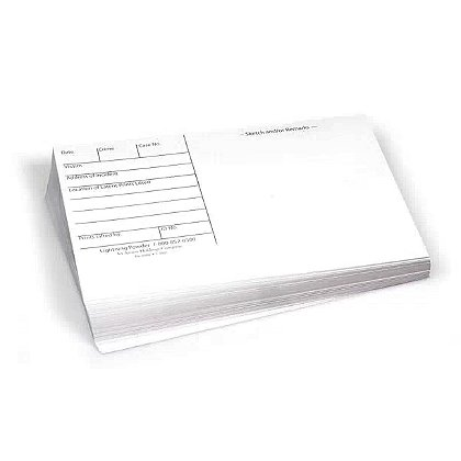 Forensics Source 3 x 5 Backing Cards
