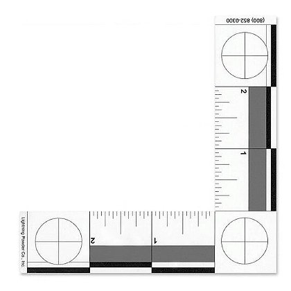 Forensics Source Inch L-Shaped Scale