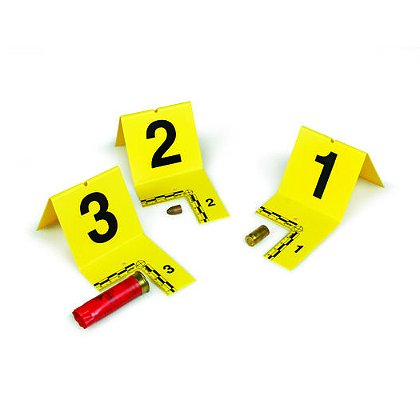 Forensics Source Evi-Paq Cut-Out ID Tents, Numbers 21-40