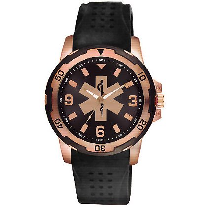Aquaforce 54EMT, Rose Gold & Black EMT Dress Watch