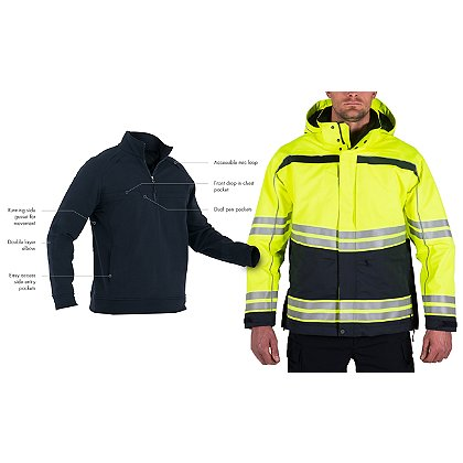 First Tactical Tactix High-Vis Parka with Free Cotton Quarter Zip
