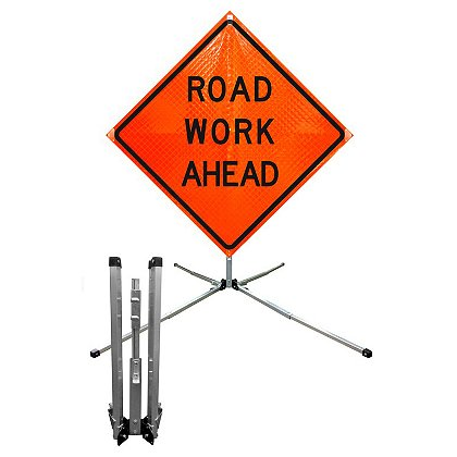 Dicke Flat Spring Stand for Roll-Up Signs