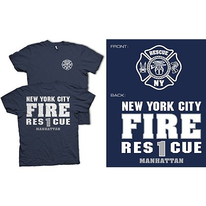 Fisher Sportswear NYC Rescue 1 Short-Sleeve T-Shirt