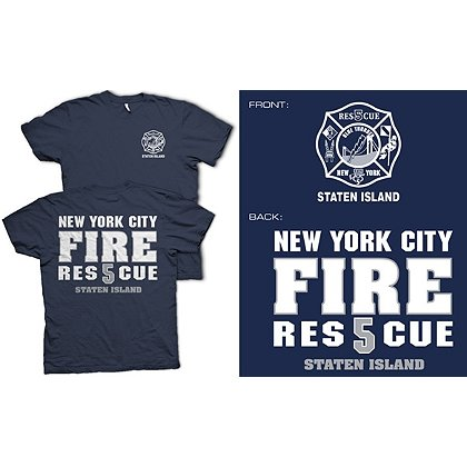 Fisher Sportswear NYC Rescue 5 Staten Island Short-Sleeve T-Shirt