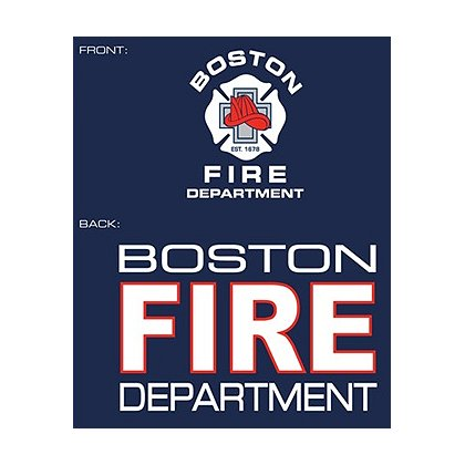 Fisher Sportswear Boston Fire Dept. Hooded Sweatshirt