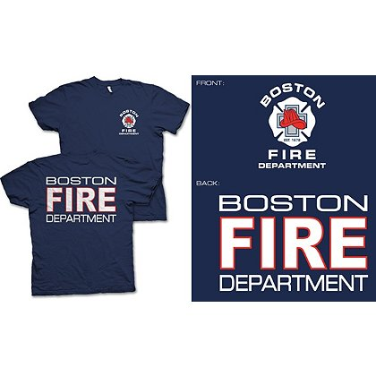 Fisher Sportswear Boston Fire Dept. Short-Sleeve T-Shirt