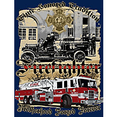 acdbe4cc6c8 Fisher Sportswear Time Honored Tradition Brotherhood Firefighter Short-Sleeve  T-Shirt