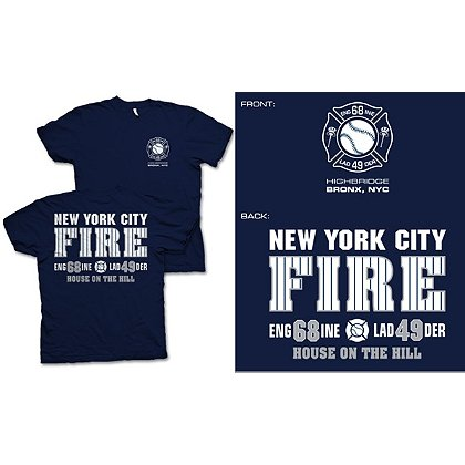 Fisher Sportswear NYC Engine 68 Ladder 49 Short-Sleeve T-Shirt