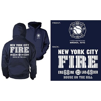 Fisher Sportswear NYC Engine 68 Ladder 49 Hooded Sweatshirt