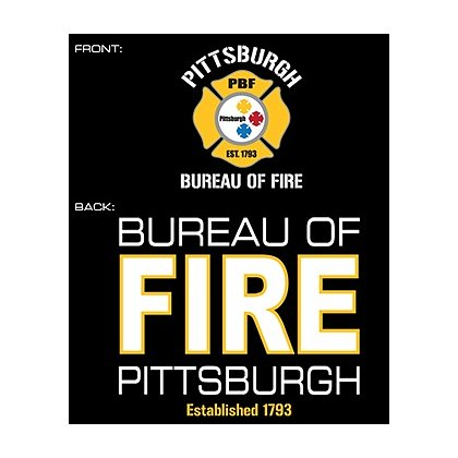 Fisher Sportswear Pittsburgh Bureau Of Fire Hooded Sweatshirt