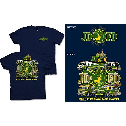 Fisher Sportswear JDFD Firefighter Short-Sleeve T-Shirt