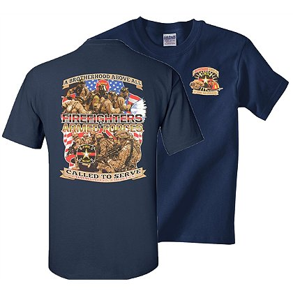 Fisher Sportswear Firefighter & Armed Forces Short-Sleeve T-Shirt