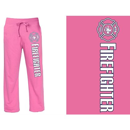 Fisher Sportswear Women's Firefighter Pink Duty Sweatpants