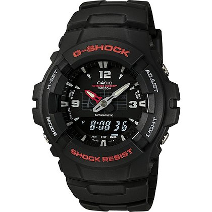 Casio G-Shock Analog/Digital Watch, Black