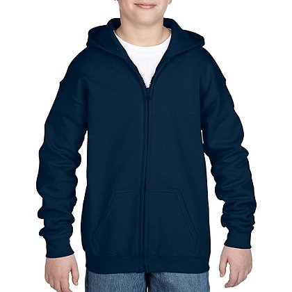 Gildan Heavy Blend Youth Full Zip Hooded Sweatshirt