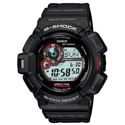 Casio G-Shock Mudman Solar Watch, Atomic Red