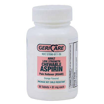 Gericare Chewable Aspirin, Orange Flavored