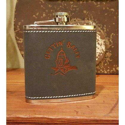 Gettin Salty Rawhide Stainless Steel Flask