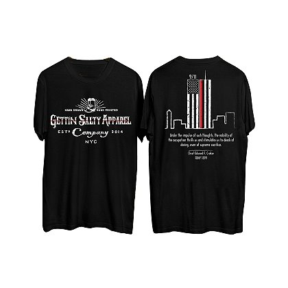 Gettin Salty Apparel Thin Red Line Twin Towers Short-Sleeve T-Shirt
