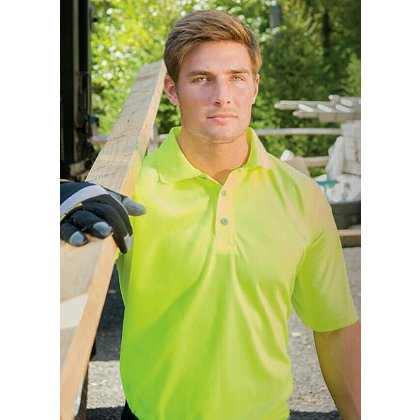 Game Sportswear Hi-Vis Polo, Neon Lime