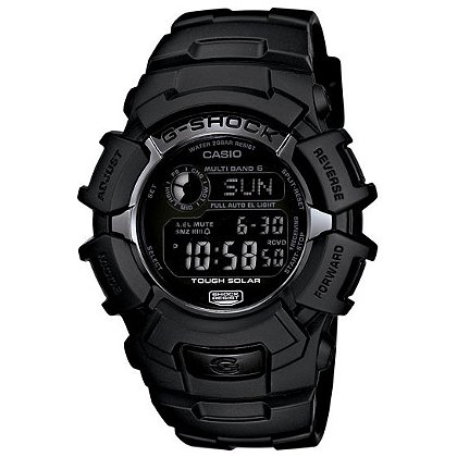 Casio G-Shock Digital Solar Atomic Watch, Black