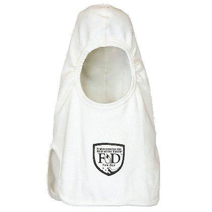 Fire-Dex H81 Classic Knit White Nomex Hood, Notch Shoulder