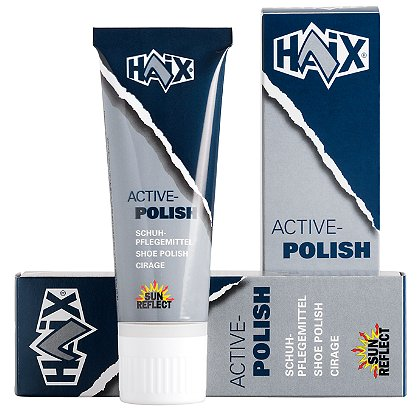 Haix Shoe/Boot Polish, Black Silicone-Based