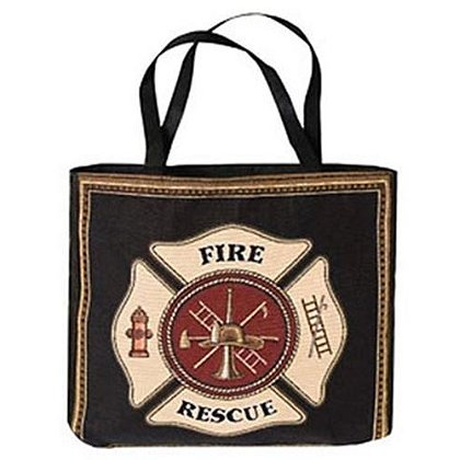 Fire Rescue Maltese Cross Tote Bag