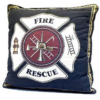 Fire Rescue Maltese Cross Pillow