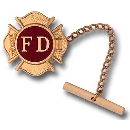 Fire Department Tie Tac with Maltese Cross