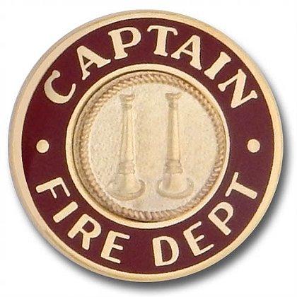 Gold Captain Collar Insignia Pin