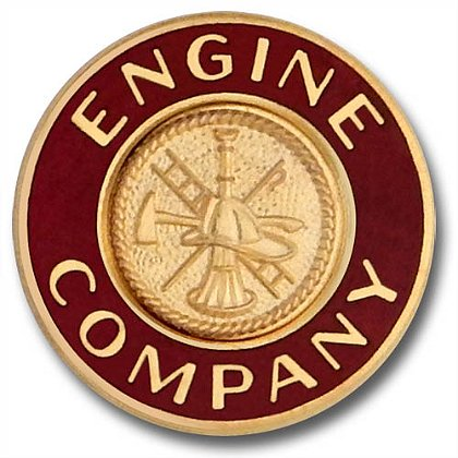 Engine Company Collar Insignia Pin